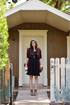 black eShakti dress - brown merona boots