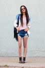 Black-charlotte-russe-purse-blue-charlotte-russe-shorts