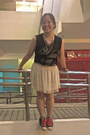 Black-muscle-tee-forever-21-shirt-beige-sequined-forever-21-skirt