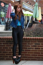 black disco pants American Apparel pants - black Jeffrey Campbell boots