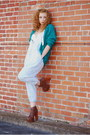 Teal-vintage-by-shevahh-cardigan-dark-brown-litas-jeffrey-campbell-boots