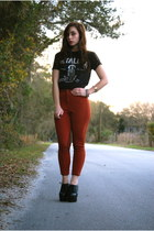 brick red vintage riding pants pants