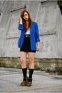 Blue-cobalt-blue-vintage-by-shevahh-blazer-white-corset-bra