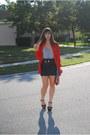 Gray-forever-21-dress-red-vintage-blouse-black-aldo-shoes-heels