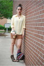 Bronze-h-m-dress-light-yellow-thrifted-vintage-blouse-dark-brown-bandage-sty
