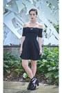 Black-forever-21-dress-black-cantu-boot-jeffrey-campbell-heels