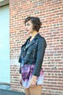 Violet-edge-of-urge-evil-twin-dress-black-cropped-moto-nasty-gal-jacket