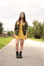 Black-dr-martens-boots-yellow-floral-vacant-moon-vintage-dress