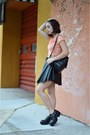 Carrot-orange-crop-top-vacant-moon-shirt-black-dahlia-fashion-skirt