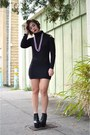 Black-booties-heels-boohoo-boots-black-persunmall-dress