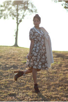Jeffrey Campbell shoes - vintage dress - shaggy wool vintage coat - calvin klein