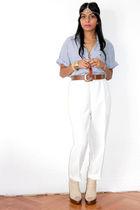 blue RMV shirt - white RMV pants