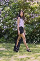periwinkle B G O O D  necklace - black vintage skirt