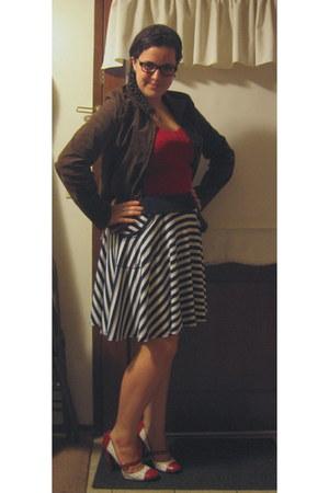 Joe Benbasset skirt - suede leather Boston Harbor jacket - Bozzolo top