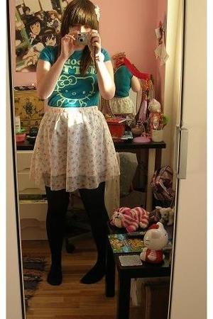blue rinse skirt - TruffleShufflecom t-shirt - Primark bracelet