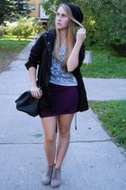 H&M blazer - H&M bag - New Yorker skirt - New Yorker top