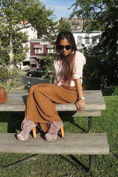 Jeffrey Campbell shoes - H&M shirt - vintage Gucci bag - 2120 versace sunglasses