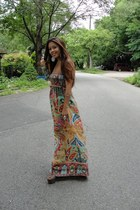 maxi H&M dress - dany platform Jessica Simpson shoes - H&M necklace - H&M ring