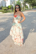 H&M dress - sandals DV by dolce vita shoes - versace sunglasses
