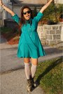 Turquoise-blue-mod-dress-forever-21-dress