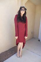 black Body Central hat - maroon Forever 21 dress - peach Marshalls heels