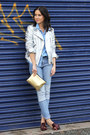 Patchwork-h-m-jeans-silver-metallic-zara-jacket-denim-topshop-shirt