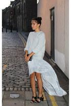 silver Topshop skirt - silver Kurt Geiger bag - periwinkle Topshop jumper