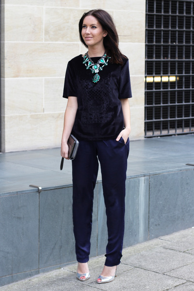 Bag Navy H&m Trend Pants
