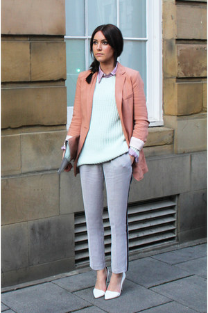 H&M blazer - Zara bag - Ralph Lauren blouse - H&M jumper - Zara heels