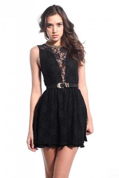 black For Love & Lemons dress
