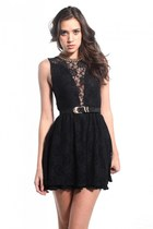 black For Love & Lemons dress
