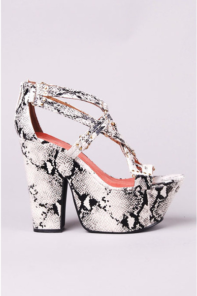 white michael antonio heels