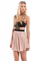 light pink Akira dress - black Akira dress