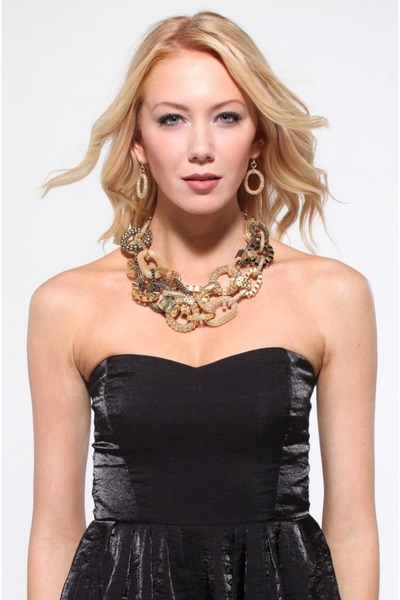 Akira necklace - keepsake dress - Akira earrings