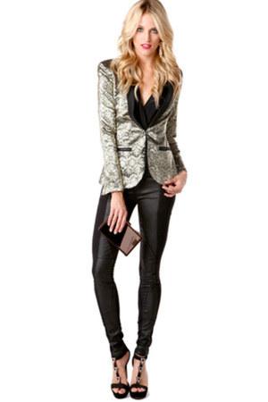 black Blank jeans - dark khaki Akira blazer - black Jessica Simpson sandals