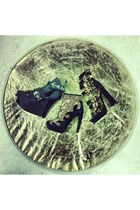 black Jeffrey Campbell x Human Aliens boots - black Jeffrey Campbell boots
