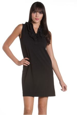 black lamade dress