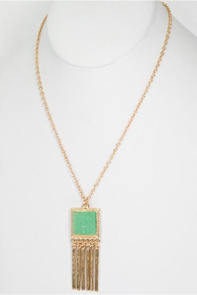aquamarine Jade Druzy Necklace necklace