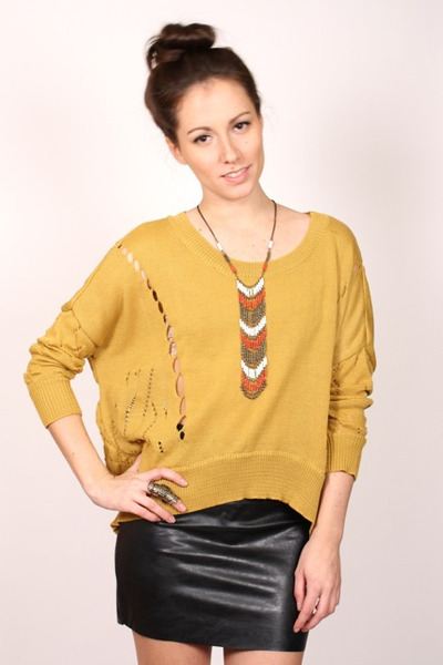 mustard ShopGoldie sweater