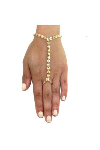 hand chain gold Kristin Perry bracelet