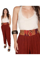 soutwest harem southwest indian foundation pants - bracelet