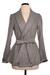 grey wrap coat Moon Collection coat