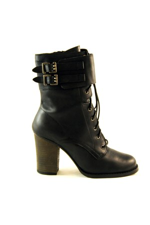 black leather Chinese Laundry boots