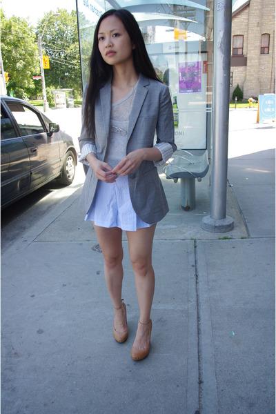 talula babaton jacket - wilfred shirt - American Apparel shorts - f21 accessorie