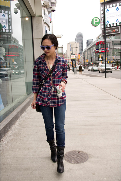 Urban Outfitters shirt - Urban Outfitters sunglasses - J Brand jeans - Nine West