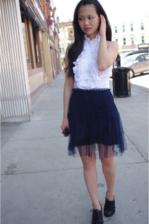 hm blouse - Target skirt - Fly London shoes