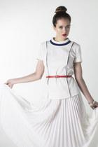 polyester vintage shirt shirt - polyester vintage skirt shirt