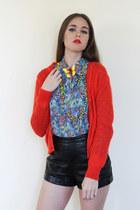 floral ascot vintage top - bold brights vintage cardigan