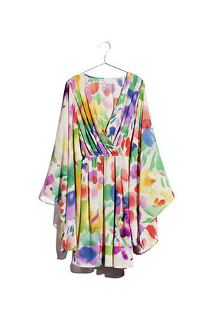 white H&M garden  collection dress