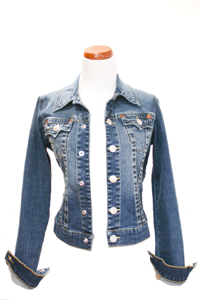 blue True Religion jacket